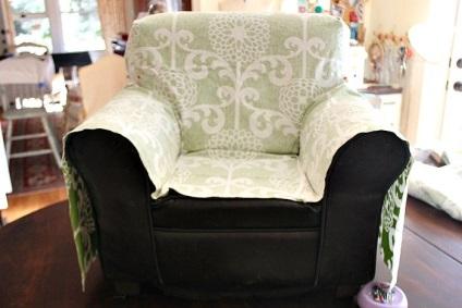 Накидка на старое кресло своими руками 62