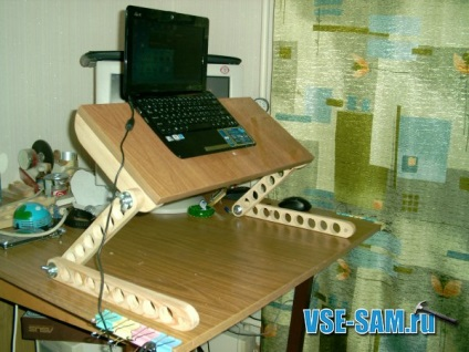 Кроватный столик для ноутбука своими руками 17