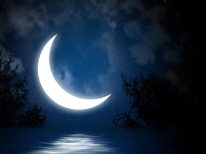 A rítusok a fogyó hold kár vagy segítségre