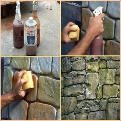 Имитация камней своими руками 778