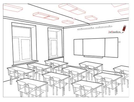 класса в карандашом рисунок школе