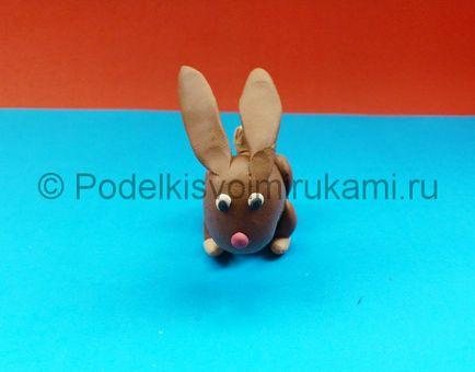 Как сделать из пластилина кролик 376