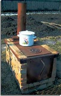 Печь для дачи на дровах своими руками на улице 71