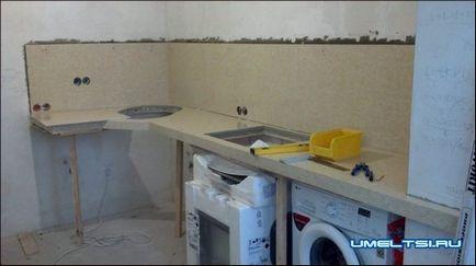 Как своими руками сделать столешницу на кухонный гарнитур 53