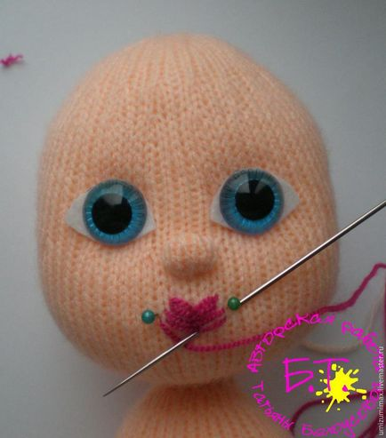Как кукле сделать губы своими руками 5