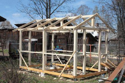 Построить беседку на даче из дерева своими руками 43