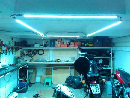 Свет в гараж своими руками 34