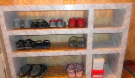 Подставка для обуви своими руками из коробок 82