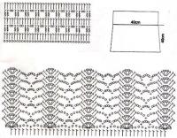 Схема прямого вязания крючком 826