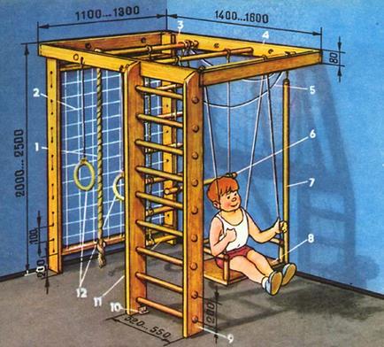Как своими руками сделать детский спортивный комплекс своими руками
