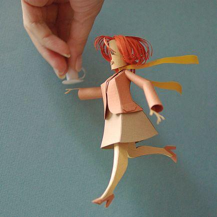 Объемные куклы из картона своими руками 21