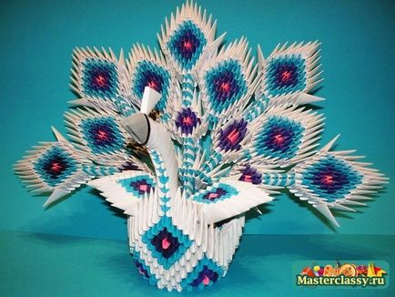 Поделки павлина модульное оригами 48