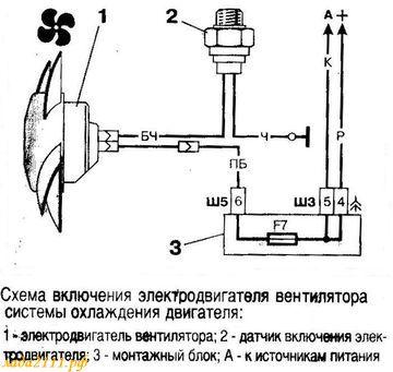 Схемы включения вентилятора для охлаждения