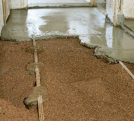 Наливной пол из цемента и песка своими руками 7