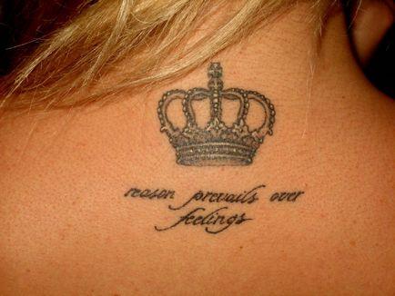 Korona Tatuaż Na Szyi Na Portalu