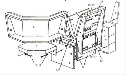 Схема сборки кухонных уголков своими руками 229
