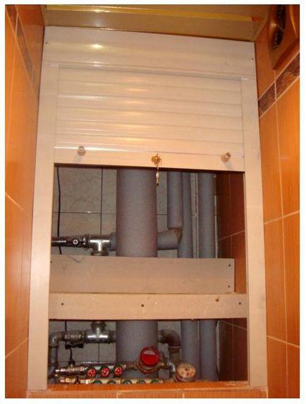 Спрятать трубы в туалете своими руками 75