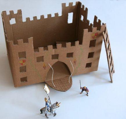 Замок из коробок своими руками картинки 64