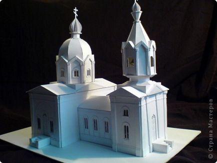 Как сделаем из бумаги церковь 688