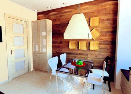 Laminat na ścianie - a możliwości projektowania zdjęcie, kładąc dłonie