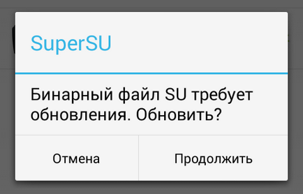 Supersu - nem frissített bináris su - android 1