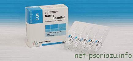 nátrium-tioszulfát pikkelysömör kezelése)
