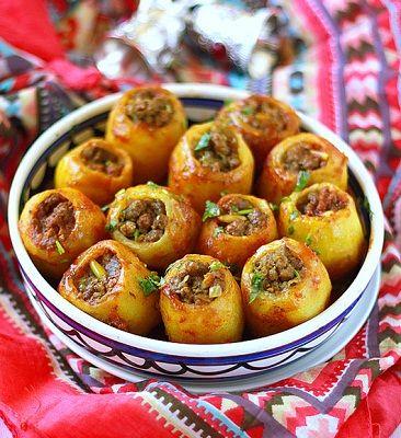 Pieczone ziemniaki z mięsa multivarka Witek