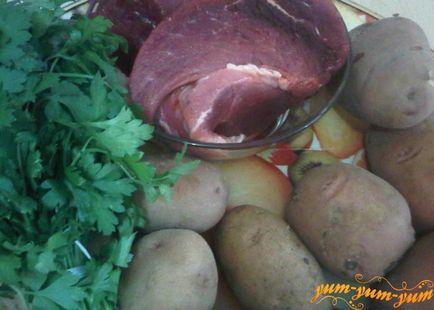 pieczeń mięsa i ziemniaków