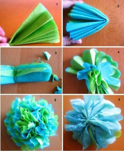 Как да си направим хартиени цветя от салфетки, майчинството - бременност, раждане, хранене, образование