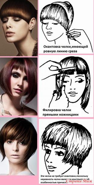 Как да си направим косо бретон снимка