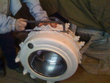 Как да премахнете барабана на пералната машина се разглоби за ремонт, премахване и разхлабят, демонтаж машина
