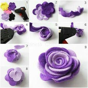 Как да си направим едно цвете, изработени от филц