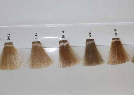 Цветовата палитра от най-добрите цветове за коса снимките и имената на професионалните нюанси