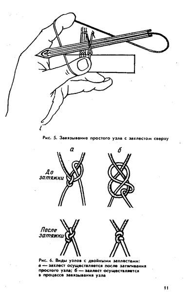 Узлы для вязания рыболовной сетки