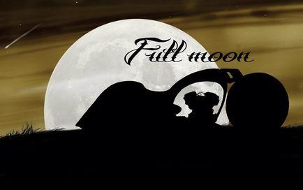 Conceptul de motocicletă akrapovic - luna plină
