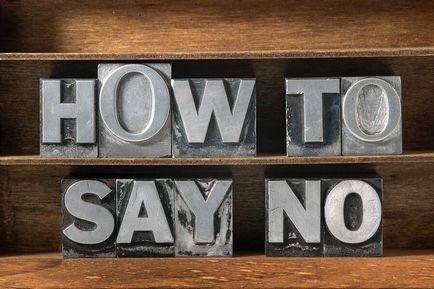 8 sfaturi, învățând cum să spun - nu există