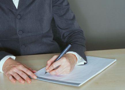 Cum de a scrie o notă explicativă - model și un exemplu de scriere