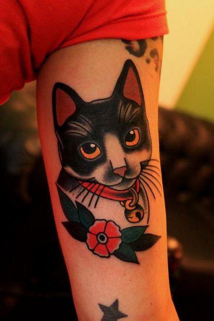 Cat - un tatuaj pentru bărbați și femei