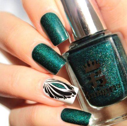 Design de unghii verde, manichiura cu poze 30 poze
