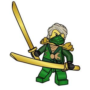 Cum să atragă un ninja lego du-te