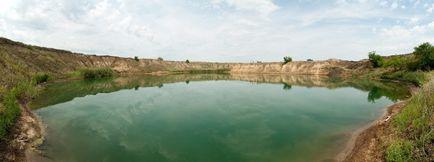 In prezent, un lac de sare în regiunea Harkov