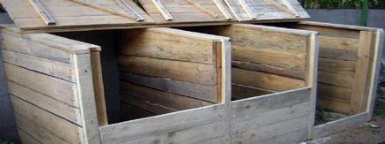 Caseta de compost propriile lor mâini în special a făcut cabana mea