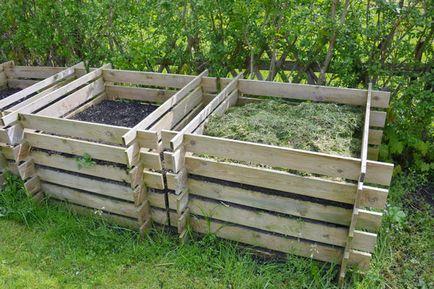 Cutie de compost cu opțiuni mâini, cerințele, pașii de fabricație