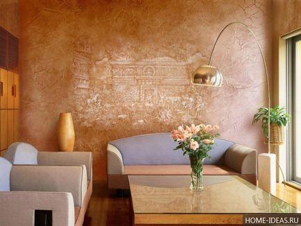 tencuiala decorativa in interiorul apartamentelor (20 poze), modul de utilizare tencuiala decorativa