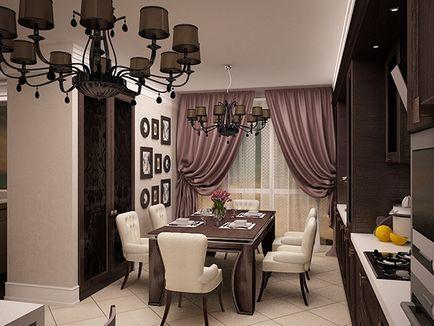 Proiectare sufragerie camera de zi idei de design, precum și o selecție de fotografii de interior