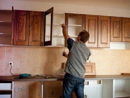 Cum să stea pe dulapurile de perete tipuri de elemente de fixare