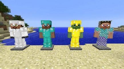 Minecraft modul de a face armura din toate materialele posibile