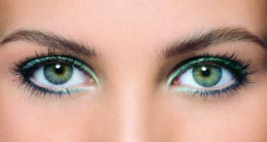 Machiaj pentru ochii verzi și gri-verde