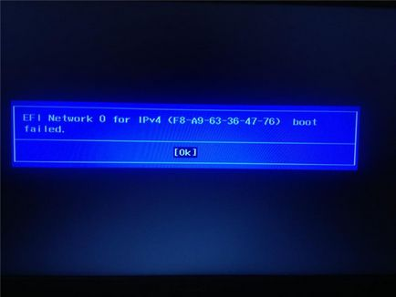 Eroare de rețea EFI 0 pentru pornire nu a reușit să facă ipv4 asta, viața hacking