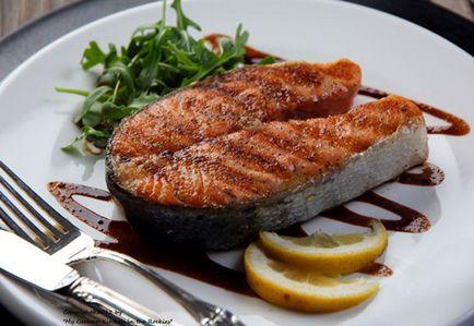 Gratar friptură de somon - cele mai bune rețete - Cum de a găti rapid un delicios
